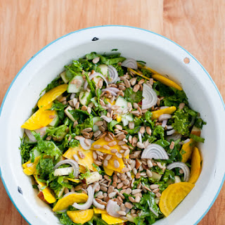 Loaded Raw Kale Salad.
