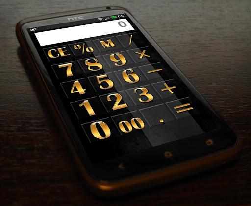 Simple calculator Gold