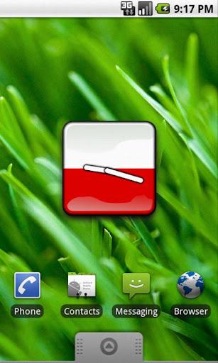 Poland Flag Clock Widget