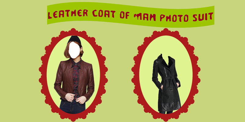 Leather Coat of Man Photo Suit - screenshot