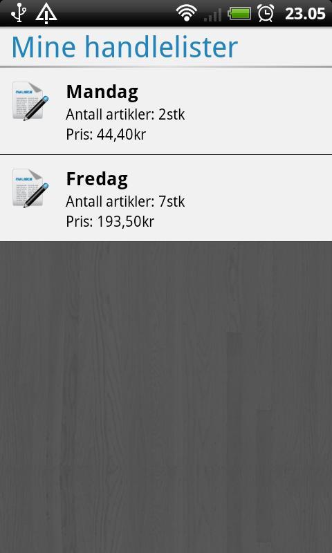 Handlelista Norge- screenshot