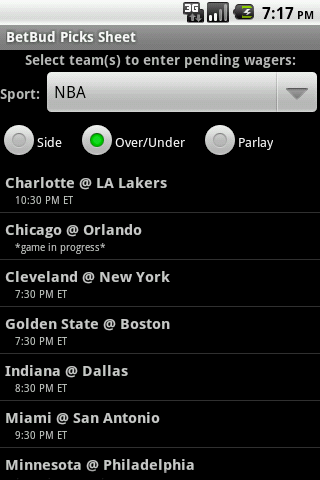 BetBud - sports bet tracker- screenshot