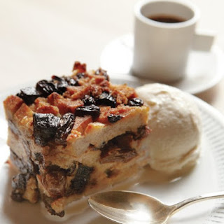 Bagel Pudding with Prunes and Raisins