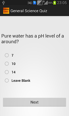 General Science Quiz - screenshot