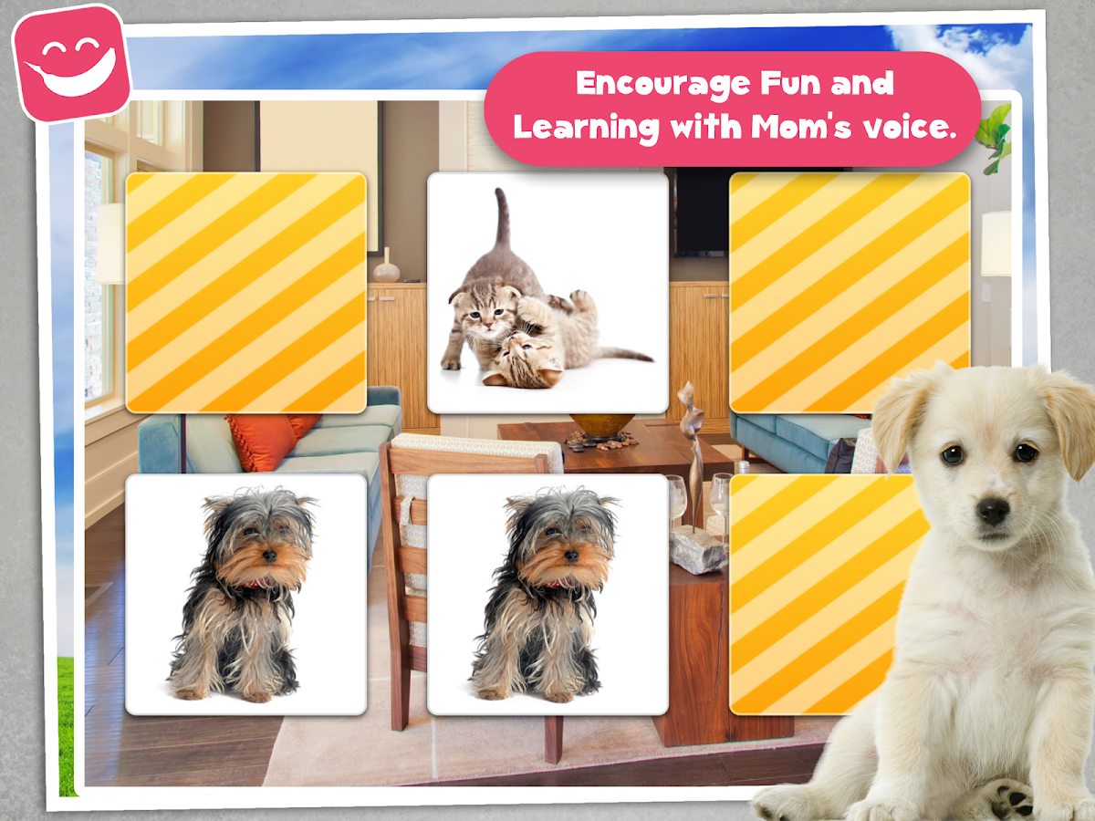 memo game pets photo kids android apps on google play memo game pets photo kids screenshot