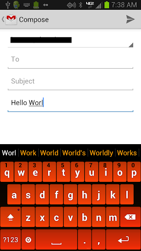 Orange Keyboard