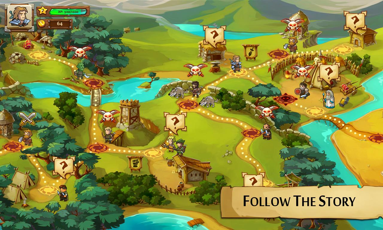 Screenshots of Braveland for iPhone