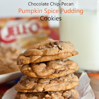 Chocolate Chip Pecan Pumpkin Pudding Cookies