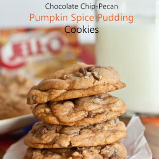 Chocolate Chip Pecan Pumpkin Pudding Cookies.