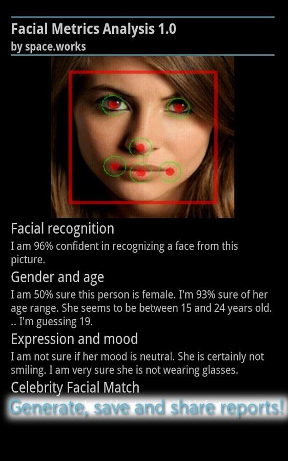 Facial Metrics Analysis- screenshot