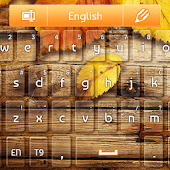 GO Keyboard Orange Autumn