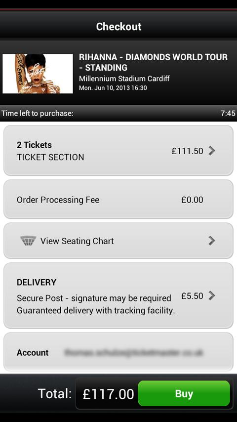 Ticketmaster UK - screenshot