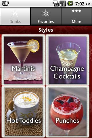 Holiday Cocktail Bar- screenshot