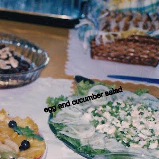 Egg and Cucumber Salads