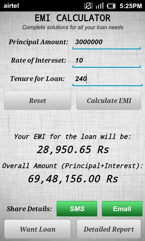 All Loans EMI Calculator- screenshot