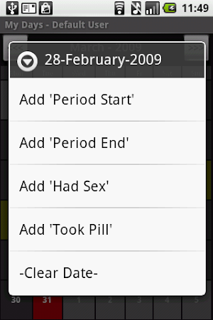 3 My Days - Period & Ovulation ™ App screenshot