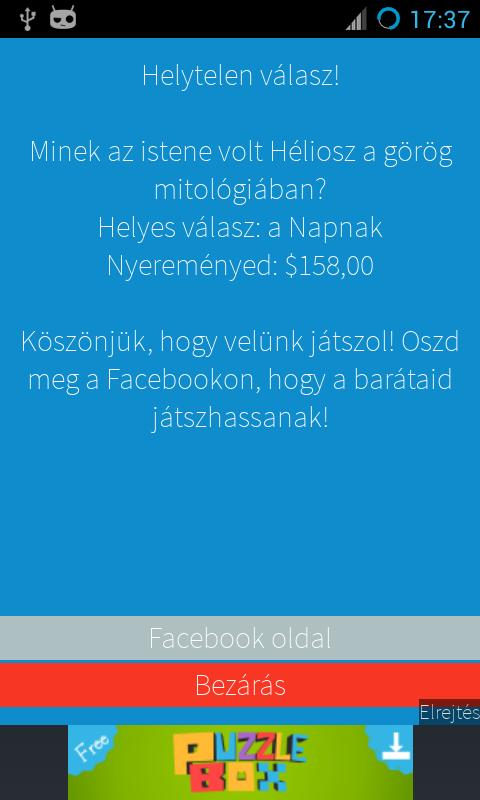 Legyél Te is Milliomos! magyar - screenshot