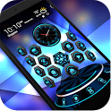 TechBlue Next Launcher Theme3D icon