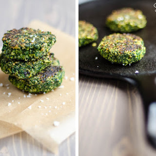 Spinach, Fava Bean and Quinoa Cakes