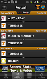 Univ. of Tennessee Athletics - screenshot thumbnail
