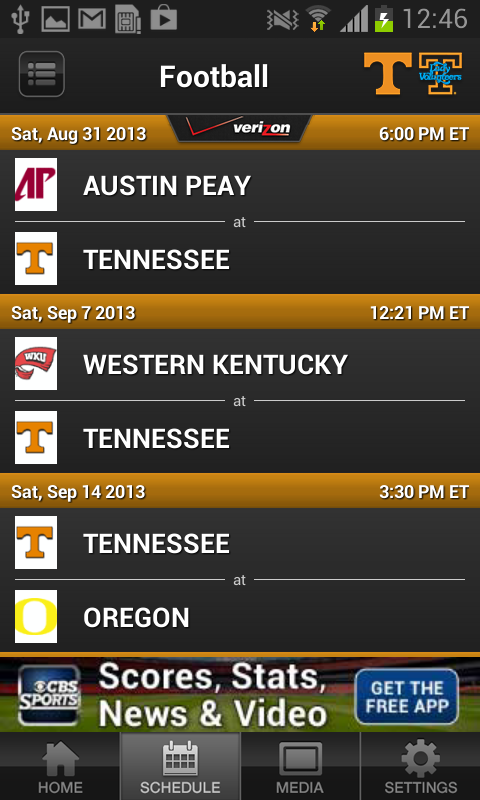 Univ. of Tennessee Athletics - screenshot