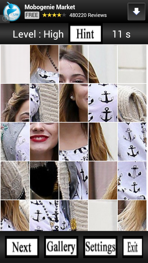 Martina Stoessel Puzzle Game - screenshot