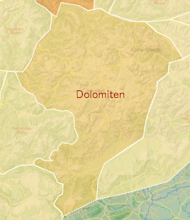 DOLOMITE mountain range map- screenshot thumbnail