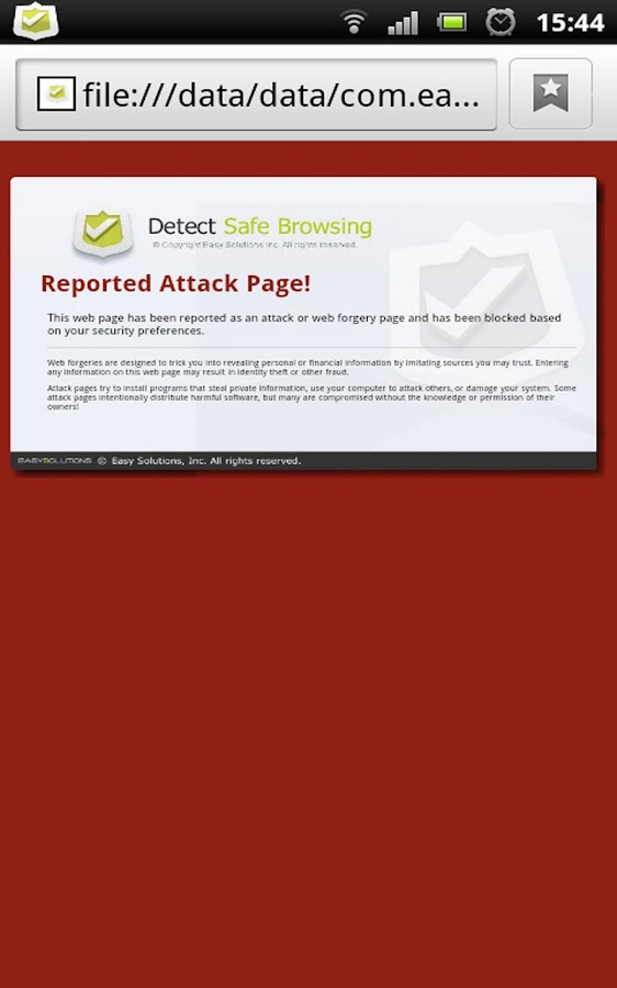 Detect Safe Browsing - screenshot