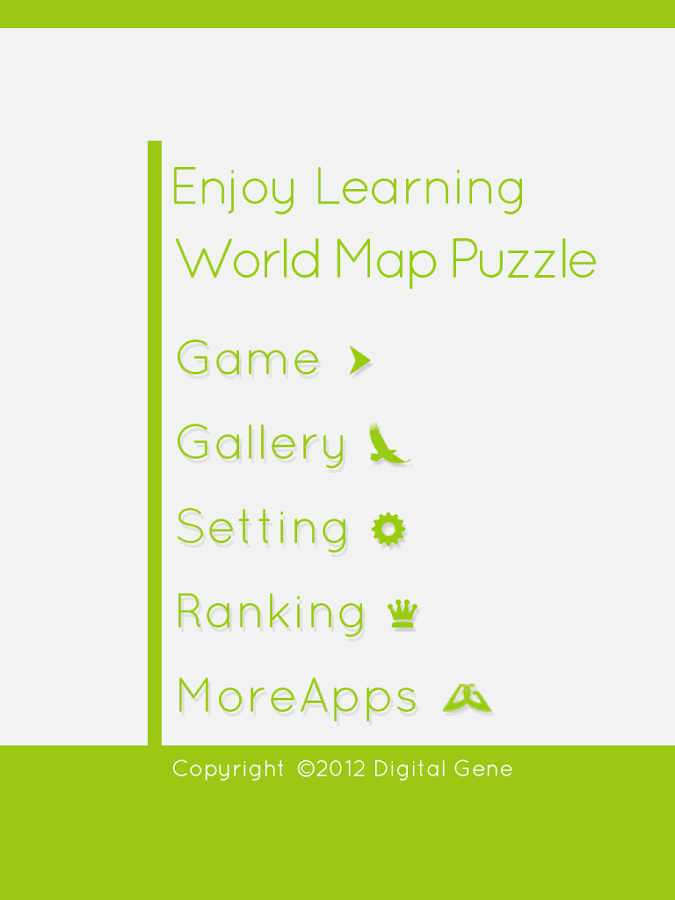 EnjoyLearning World Map Puzzle - screenshot