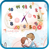 Flower art clock LWP  Free&Pro
