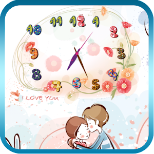 花卉藝術時鐘動態桌布 Free&Pro 個人化 LOGO-玩APPs