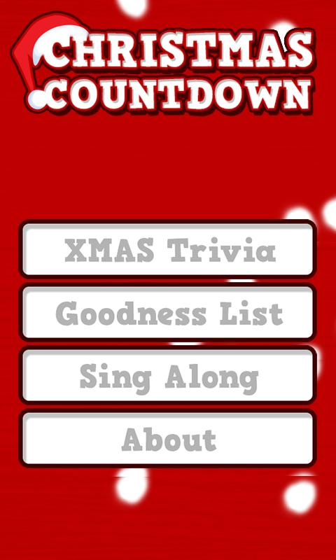 Christmas Countdown Widget- screenshot