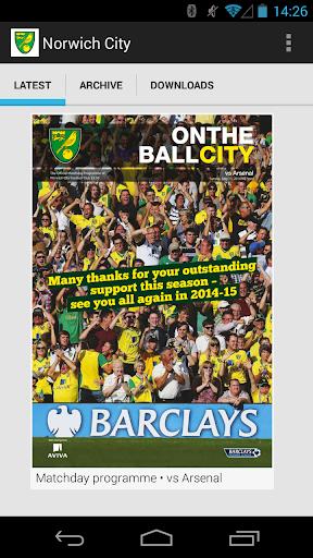 Norwich FC Matchday Programmes