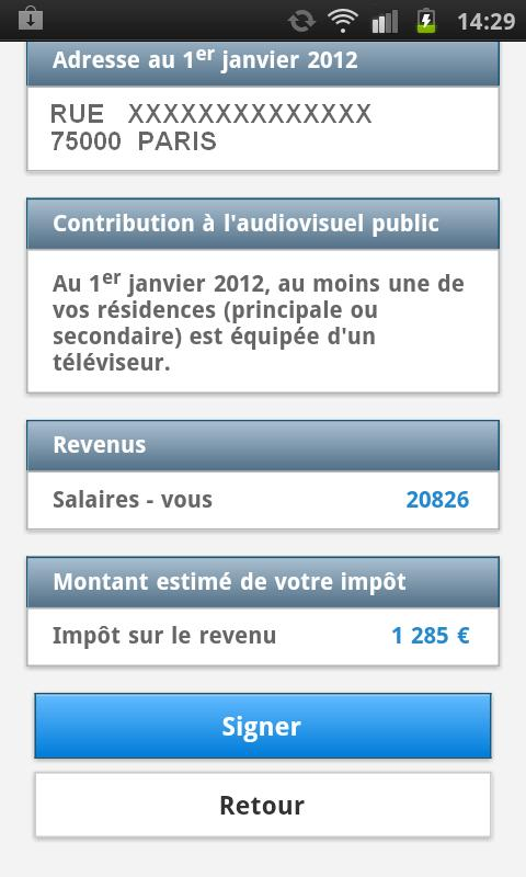 Impots.gouv - screenshot
