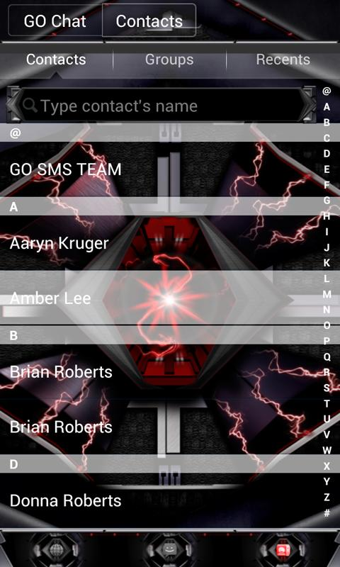 RAZR GO SMS Theme - screenshot