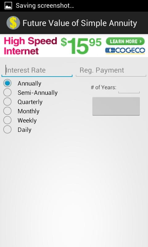 Simple Annuities - screenshot