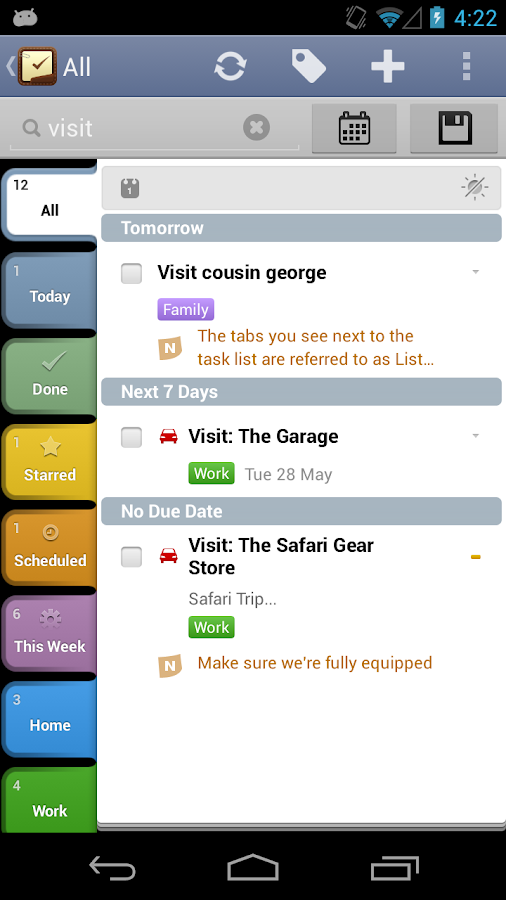 2Do: To do List | Task List- screenshot