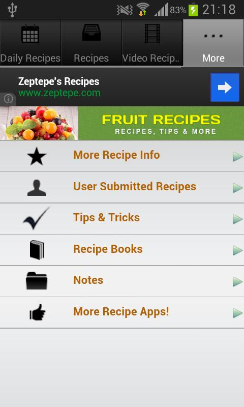 Fruit Recipes!- screenshot