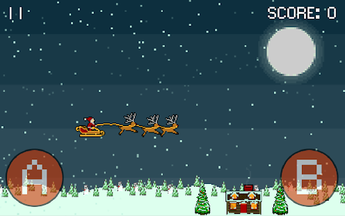 Droppin' Santa retro Xmas game- screenshot thumbnail
