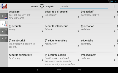 BK Dictionary French English - screenshot thumbnail