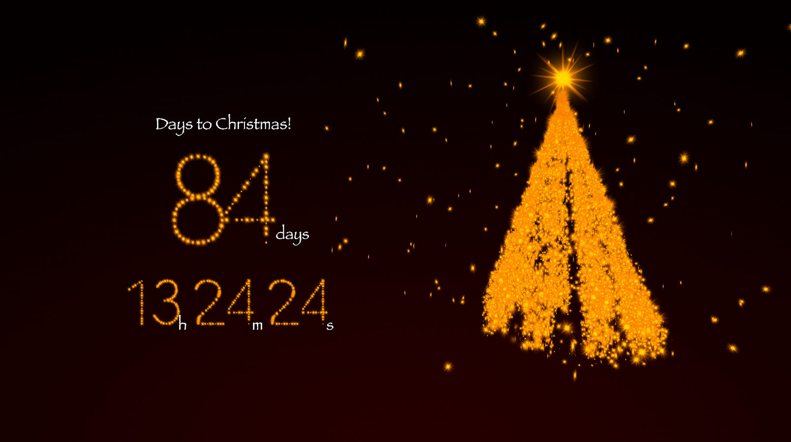 3d living christmas countdown is a stunning 3d live screensaver ...