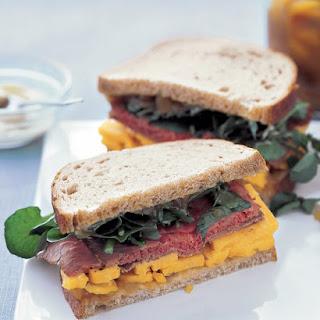 Roast Beef and Cheddar Sandwich.