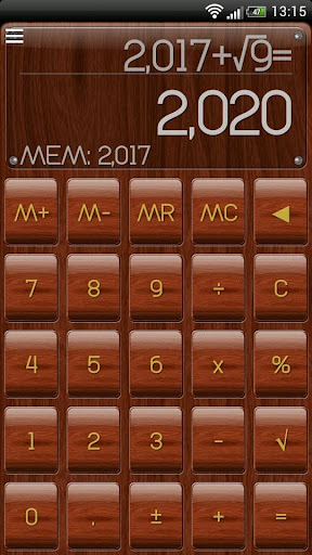 SCalc theme Mahogany Wood
