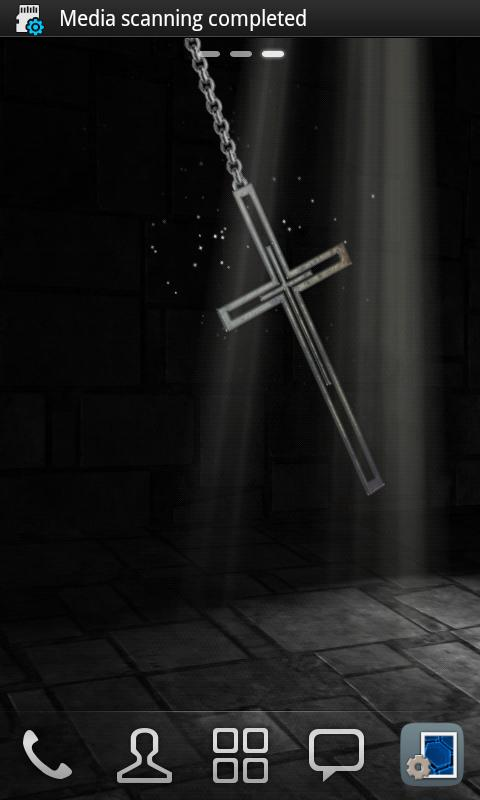 3D Cross Pendant Wallpaper - screenshot