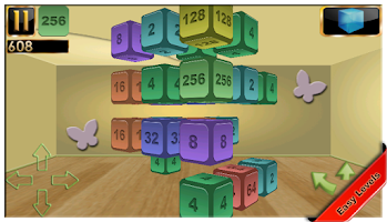Screenshot of 2048 3D Pro