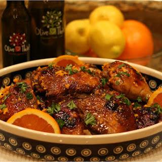Blood Orange EVOO and Dark Chocolate Balsamic Roasted Chicken
