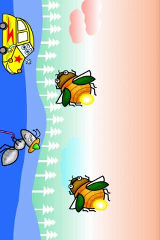 昆虫とベビーカー