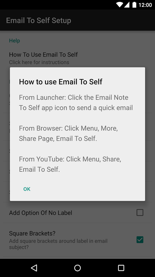 Email To Self - screenshot