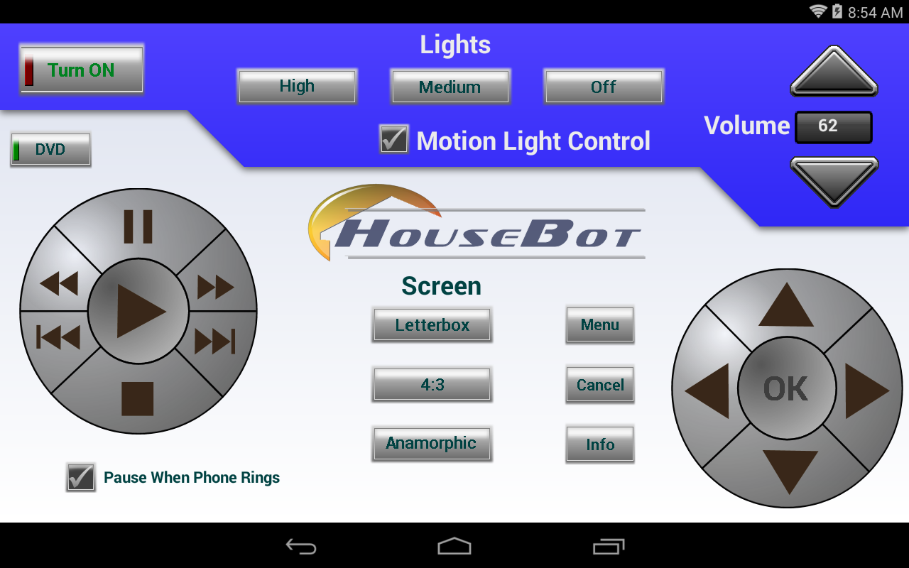 HouseBot Remote- screenshot
