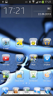 GO Launcher EX Theme Glass - screenshot thumbnail